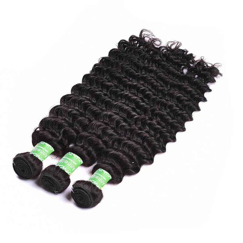 deep wave human hair 3 bundles