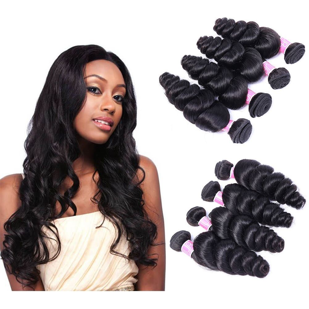 Annelbel Human Hair Malaysian Hair Loose Wave Hair 4 Bundlespack