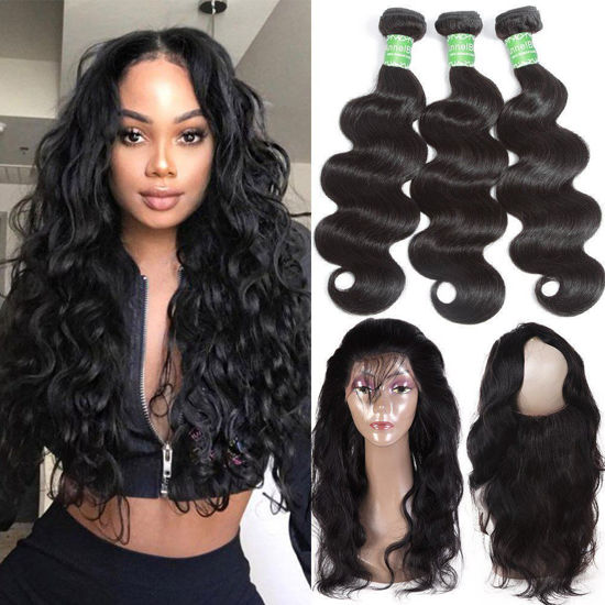 body wave bundles with 360 closure