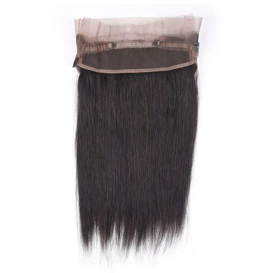 360 straight hair closure