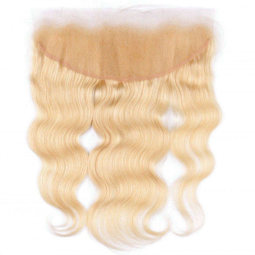 blonde human hair lace frontal
