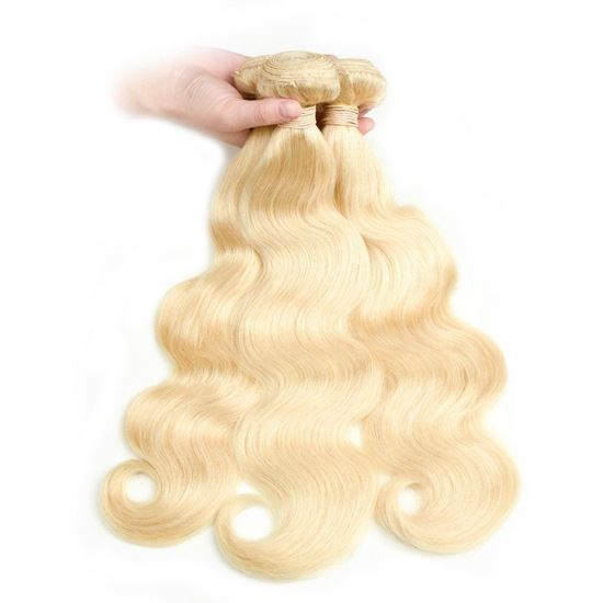 blonde human hair body wave 3 bundles