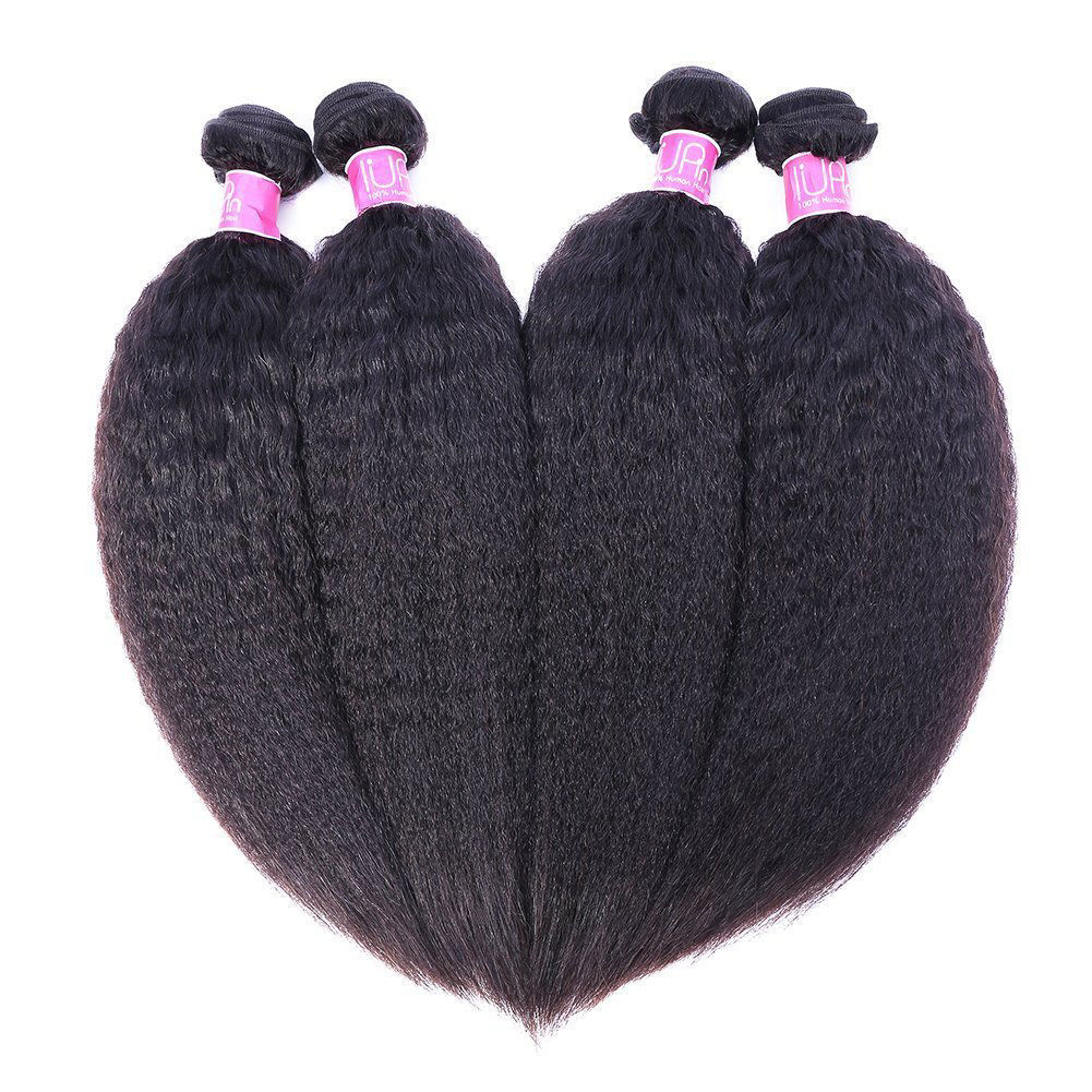 IUPIN Brazilian Kinky Straight Virgin Human Hair 4 Bundles