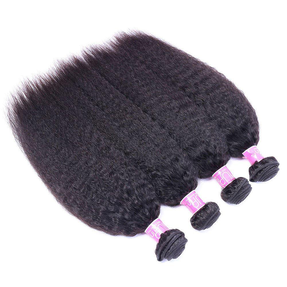 IUPIN Kinky Straight Brazilian Virgin Hair 4 Bundles