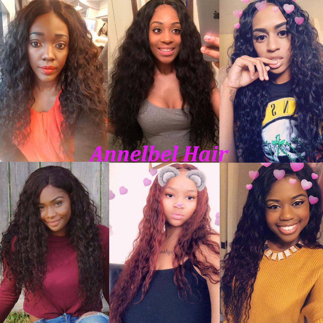 ANNELBEL Brazilian Virgin Hair Water Wave Hair 3 Bundles