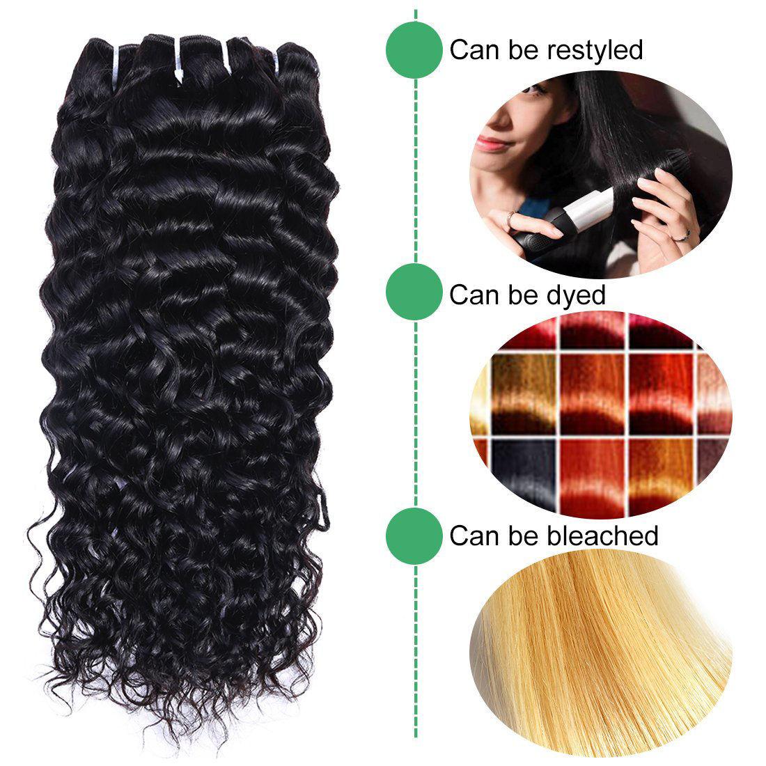 Brazilian Virgin Hair Water Wave 3 Bundles