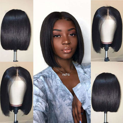 Short-Bob-Wig-Brazilian-Virgin-Straight-Hair-Bob-Wig-Lace-Front-Human-Hair-Wig-for-Black-Women-Remy-Hair-Wig