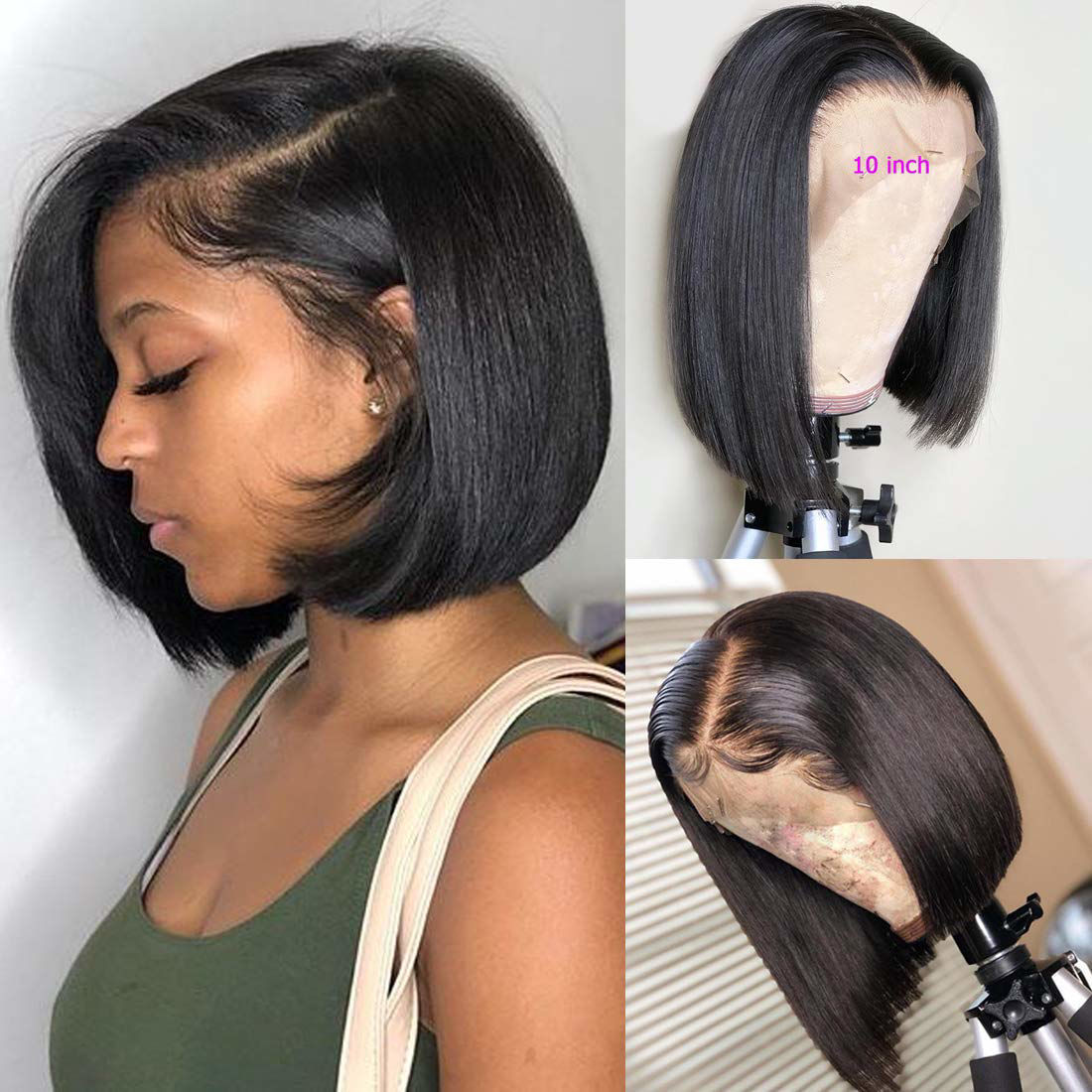 11x11 Lace Front Wig Straight Bob Wigs Lace Front Human Hair Wigs Wholesale