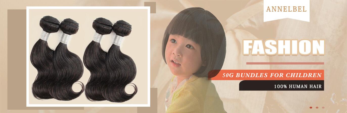 ANNELBEL-Hair-Brazilian-Virgin-Hair-4-Bundles-50g-10inch-Natural-Black-Bundles-for-Children