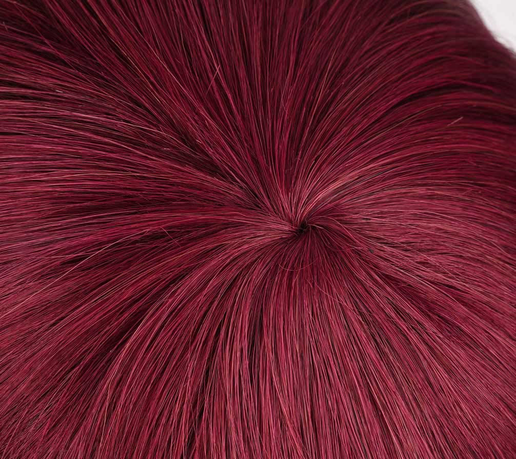 Wine Red Bob Wig with Bangs Human Hair Machine Made None Lace Front Wigs 99j bob lace wigs