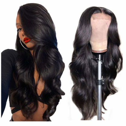 Remy Human Hair Wigs Body Wave Lace Closure Wig Human Hair 4×4 Lace Closure Wig for Black Women 1