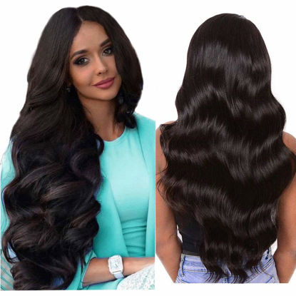 Wigs Human Hair Lace Closure Wig Body wave Deep Wave Bundles Straight Wig Virgin Hair for Black Women 1