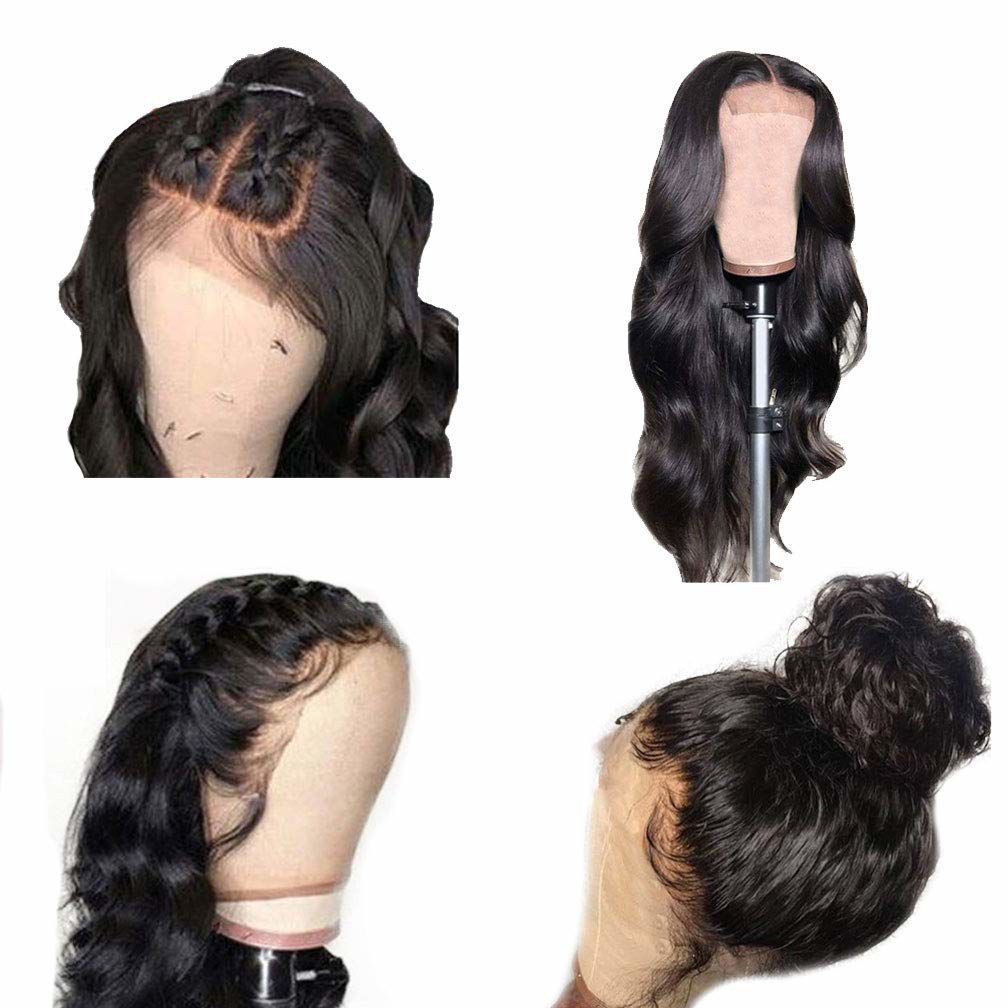 Wigs Human Hair Lace Closure Wig Body wave Deep Wave Bundles Straight Wig Virgin Hair for Black Women 4