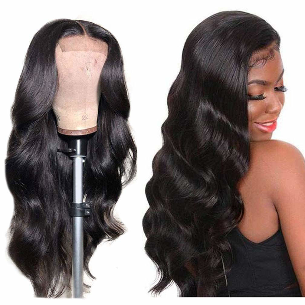 Wigs Human Hair Lace Closure Wig Body wave Deep Wave Bundles Straight Wig Virgin Hair for Black Women 7