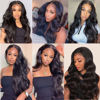 Body Wave Closure Wig Human Hair 4x4 Lace Closure Wigs Human Hair Body Wave Natural Human Hair Wigs for Black Women Pre Plucked Wavy Human Hair 6
