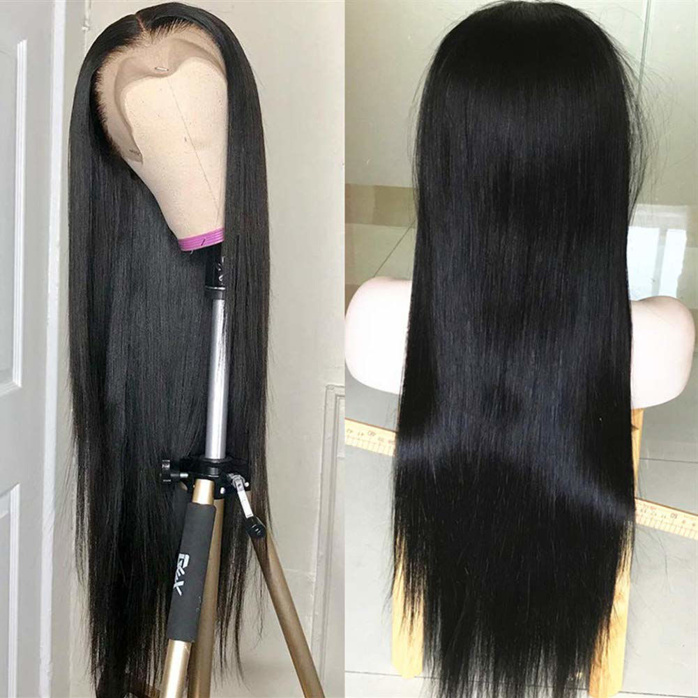 360 Lace Front Wigs Straight Brazilian Virgin Human Hair with Baby Hair Pre Plucked Lace Frontal Wigs For Black Women 2