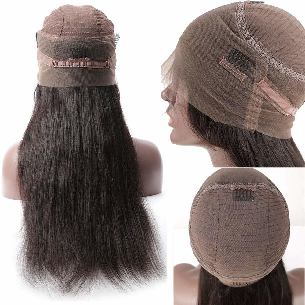360 Lace Front Wigs Straight Brazilian Virgin Human Hair with Baby Hair Pre Plucked Lace Frontal Wigs For Black Women 5
