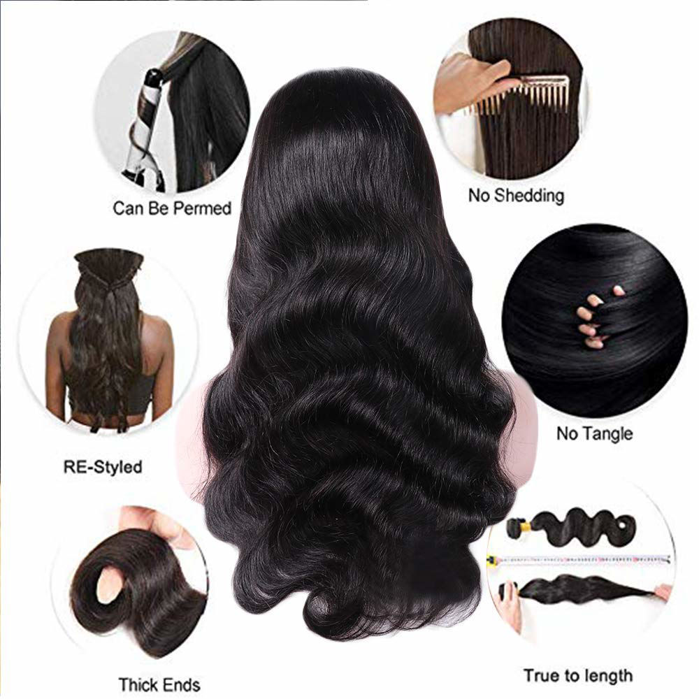 360 Body Wave Lace Frontal Wigs Human Hair Brazilian Black Women 150% Density Pre Plucked With Baby Hair Unprocessed Virgin Human Hair 3.jpg